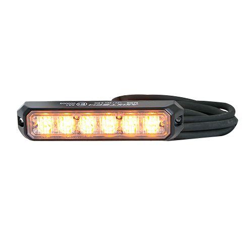 BLIXTLJUS 6 LED R65  ORANGE 12/24V DT