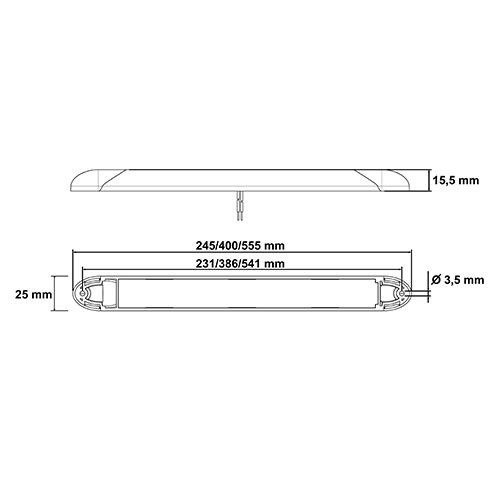 INNERBELYSNING LED  12/24V 245 MM