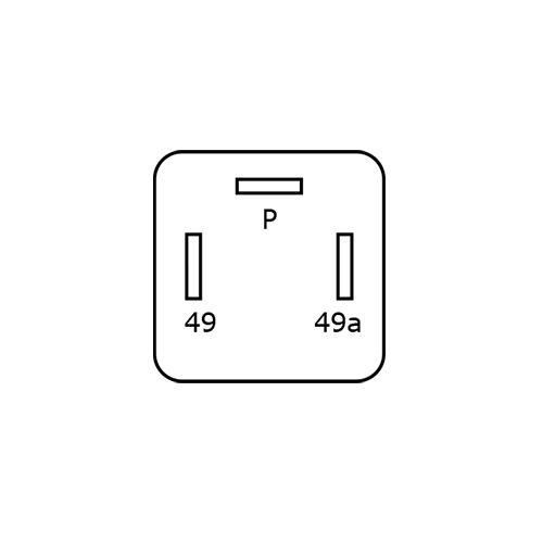 BLINKRELÄ 12V 3STIFT  FÖR LED-LAMPOR