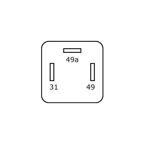 BLINKRELÄ 24V 3STIFT  FÖR LED-LAMPOR