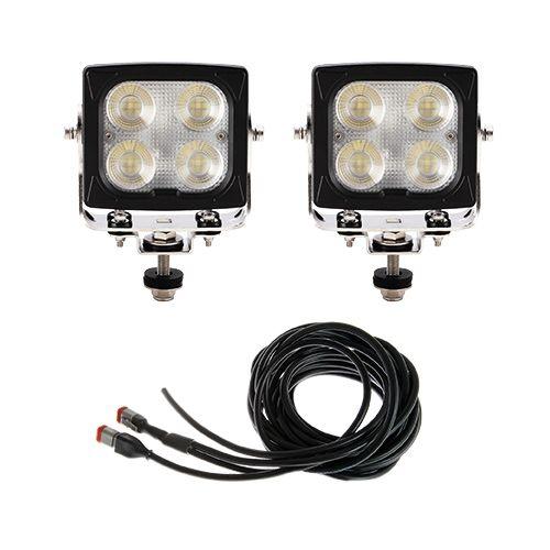 Arbetsljuspaket med två lampor och en grenkabel