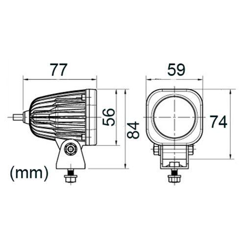 ARBETSBELYSNING LED  110F 10W 12/24V