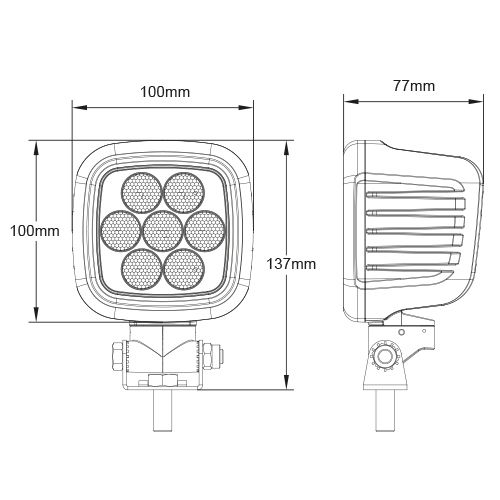 ARBETSBELYSNING LED HD 105W 12/24V