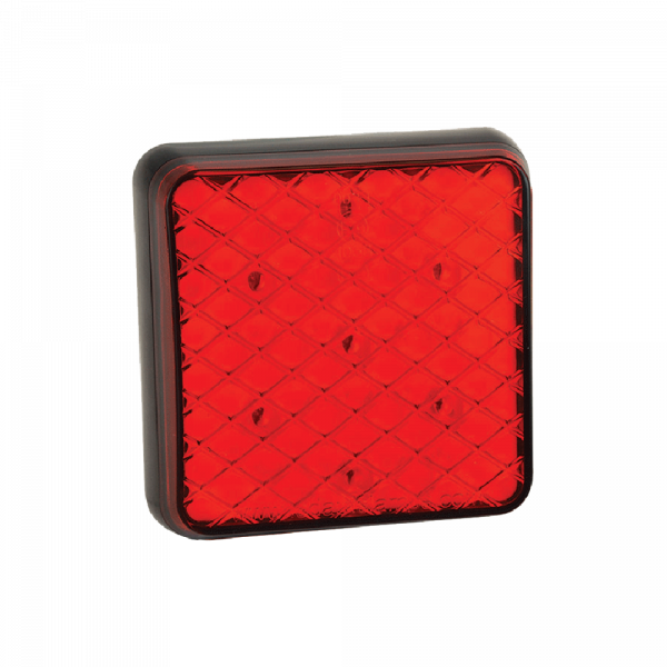 LED Bakljus - fyrkantigt i ram
