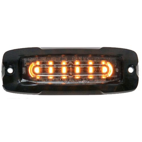 BLIXTLJUS 6 LED R65  ORANGE 12/24V