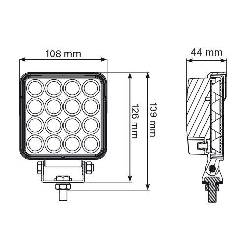 ARBETSBELYSNING LED  27W R23 12/24V DT