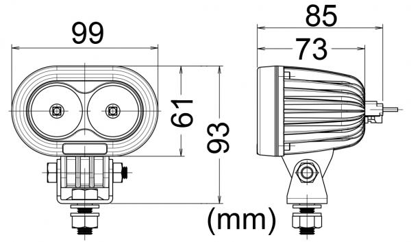 FJÄRRBELYSNING LED  10W 2LED 12/24 V