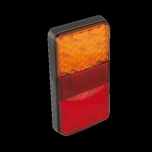 LED bakljus med tre funktioner för stående montage