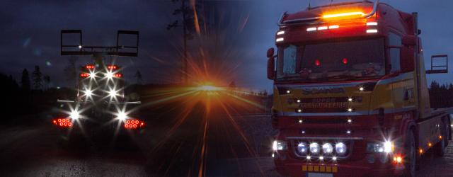 belysning till bärgningsbil